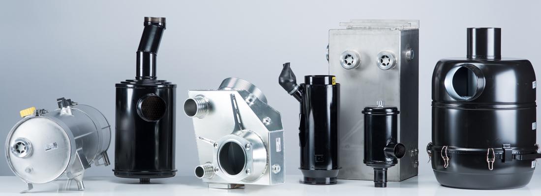 Luftfilter, Ölbadluftfilter, Ejektor, Öltank, Ölbehälter, Kraftstoffbehälter, Kühlwasserbehälter, Ausgleichsbehälter, Auspufftopf