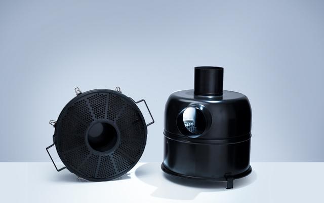 Ölbadluftfilter lackiert